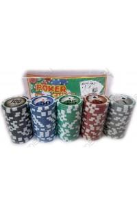 Набор для игры в покер с обычными фишками Профессионал 100.