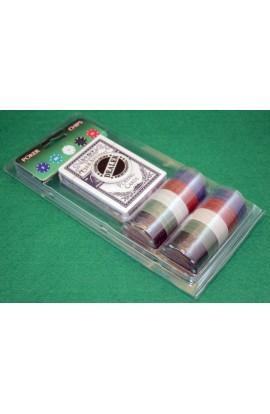Набор для игры в покер с обычными фишками Покер Базовый 60, PC460