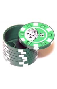 Пепельница портативная в виде стопки покерных фишек с номиналами, PCGCS