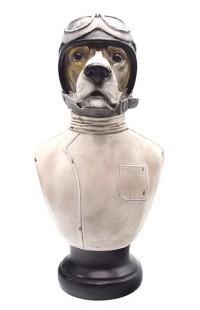 Декоративная фигурка Пёс-пилот высота 50 см