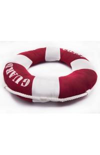 Декоративная подушка Спасательный круг красная диаметр 40 см, PILRED