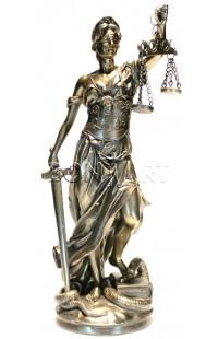 Статуэтка под бронзу Фемида высота 32 см, PL0149D22125