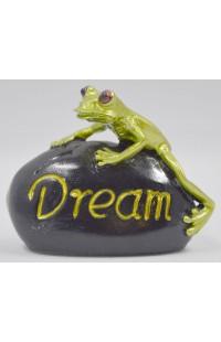 Фигурка Лягушка на камне Мечта, PLB0325A12