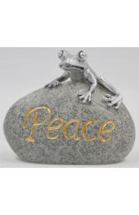 Фигурка Лягушка на камне Мир.
