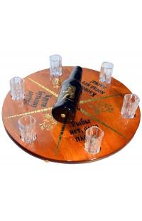 Настольная игра Пьяная бутылочка на 6 хрустальных стопок.