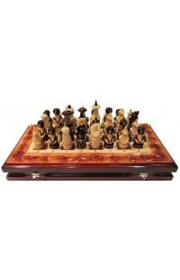 Шахматы шашки нарды резные в наборе Русь XL, SK50258