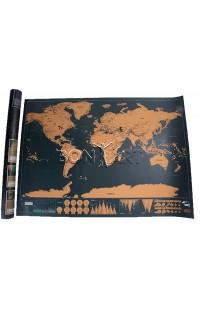 Декоративная карта SCRATCH MAP, высота 62 см, SMAP62
