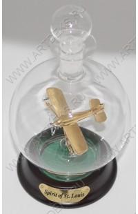 Бутылка стеклянная с самолетом Дух СентЛуиса 65 мм, SSDG