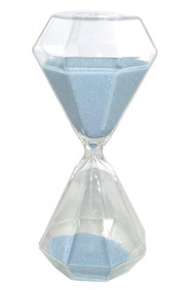 Часы песочные КРИСТАЛЛЫ интервал 15 минут высота 20 см, STD20