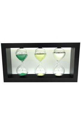 Часы песочные деревянные мультиинтервальные 30-45-60 минут высота 26 см, STW600303