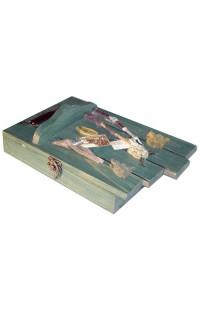 Ключница деревянная с латунью Охотничья, SY112132A
